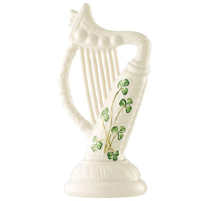 Alternate image 1 for Belleek Shamrock Harp