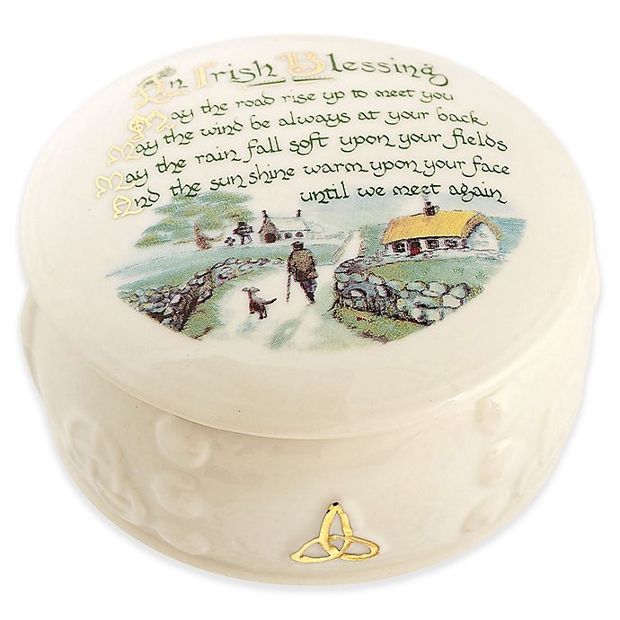 Alternate image 1 for Belleek Irish Blessing Keepsake Box