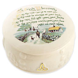 Belleek Irish Blessing Keepsake Box