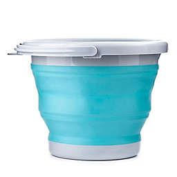 Kikkerland® 5-Liter Collapsible Bucket in Aqua