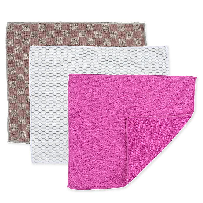 Alternate image 1 for Casabella Microfiber Cleaning Cloths (Set of 2)