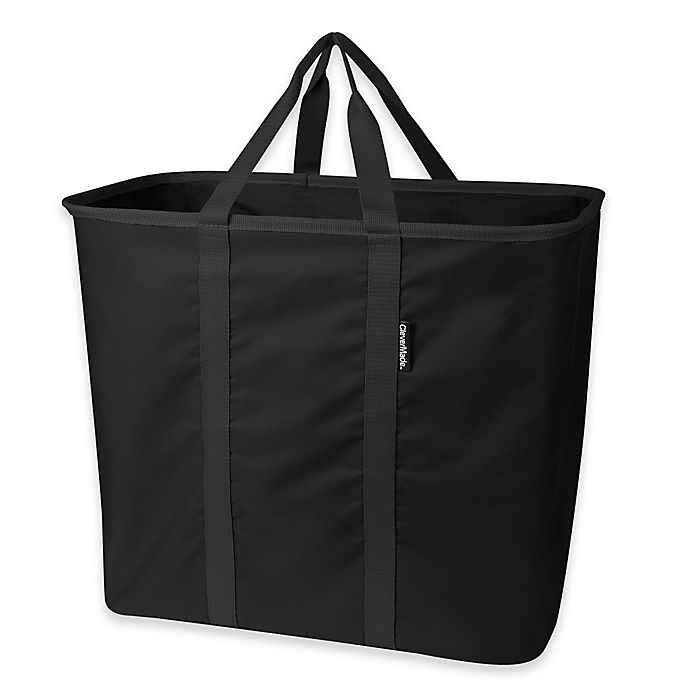 Alternate image 1 for SnapBasket XL Collapsible Laundry Tote/Carryall in Black
