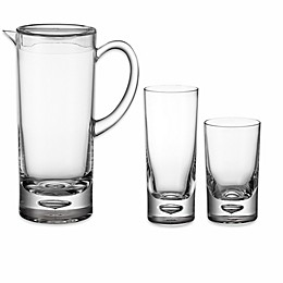 Bubble Bottom Drinkware Collection in Clear