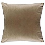 Solid Knit Velvet Square Throw Pillow in Taupe