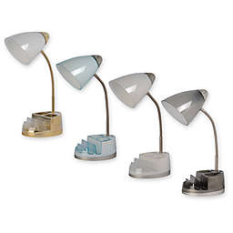 Equip Your Space Tablet Organizer Outlet/USB Desk Lamp