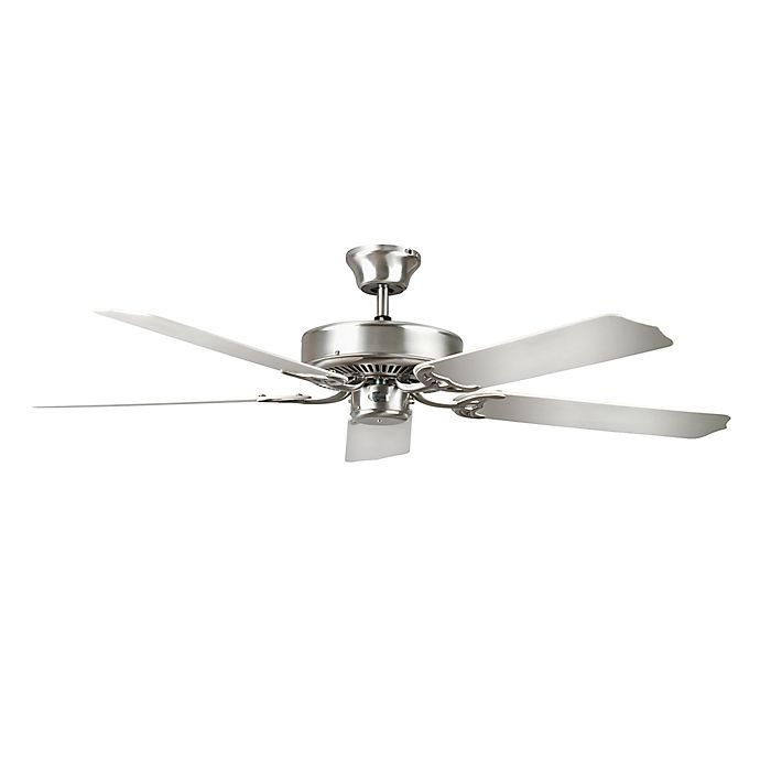 Alternate image 1 for Concord Porch 52-Inch Indoor/Outdoor Ceiling Fan in Satin Nickel