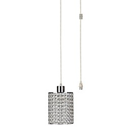 Globe Electric 1-Light Angelica Pendant in Chrome/Crystal
