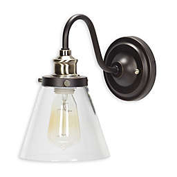 Globe Electric 1-Light Jackson Wall Sconce in Bronze/Brass