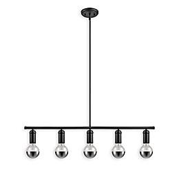 Globe Electric 5-Light Chromeo Pendant in Black