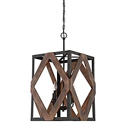Quoizel Veranda 4-Light Cage Chandelier in Bronze