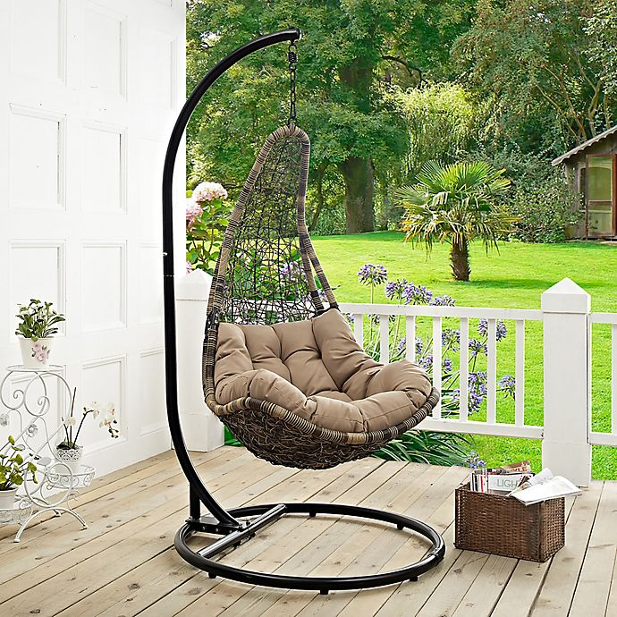 Modway Abate Patio Stand Alone Swing Chair Bed Bath Beyond