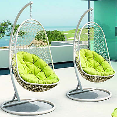 Modway Encounter Patio Stand-Alone Swing Chair in White