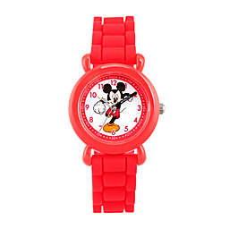 Disney® Mickey Mouse Children's Time Teacher Watch in Red Plastic with Red Silicone Strap