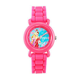 Disney® Princess Children's Time Teacher Watch in Pink Plastic with Pink Silicone Strap