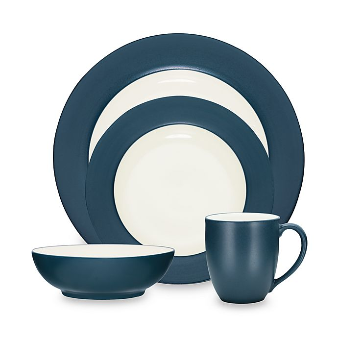 NEW Noritake 4-Piece Colorwave Rim Place Setting Dinnerware Set Blue