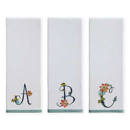 Monogram Floral Kitchen Towel