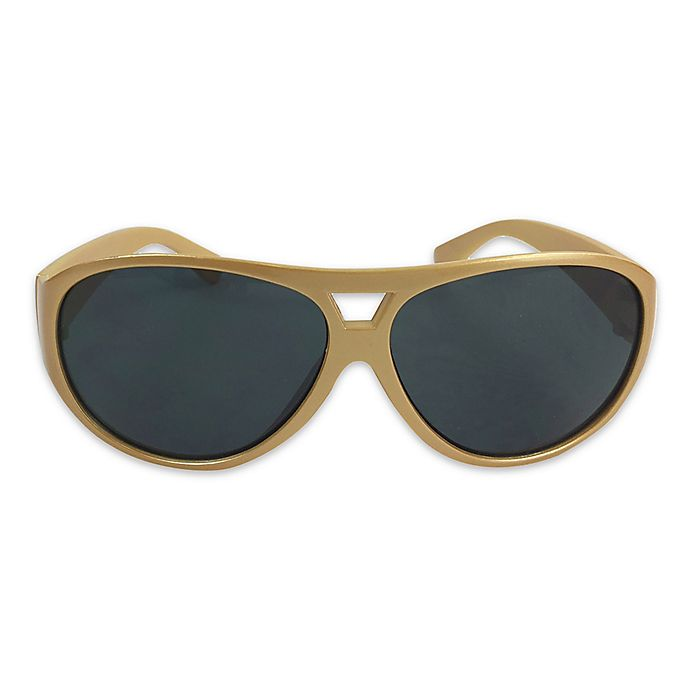 Alternate image 1 for On The Verge Aviator Sunglasses in Gold