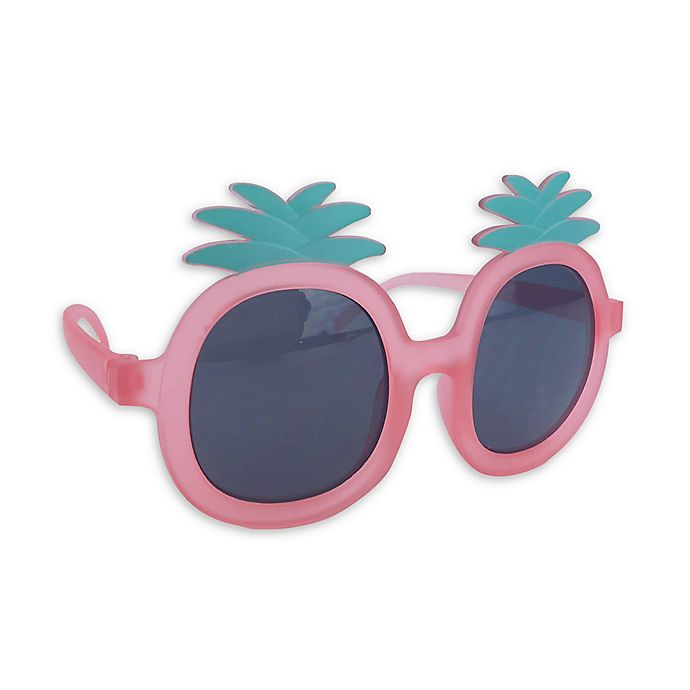 Alternate image 1 for On The Verge Pineapple Sunglasses in Coral