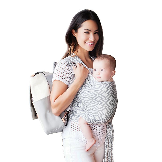 1b16a9418ae Petunia Pickle Bottom® for Moby® Wrap Mazes of Milano Baby Carrier in Stone  Grey