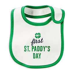 "carter's® ""My First St. Paddy's Day"" Bib in White"