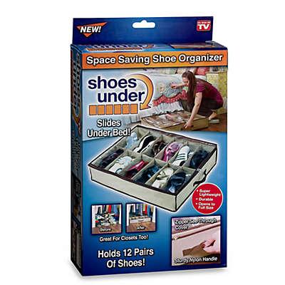 Shoes Under™ Shoe Storage Organizer in Tan/Brown