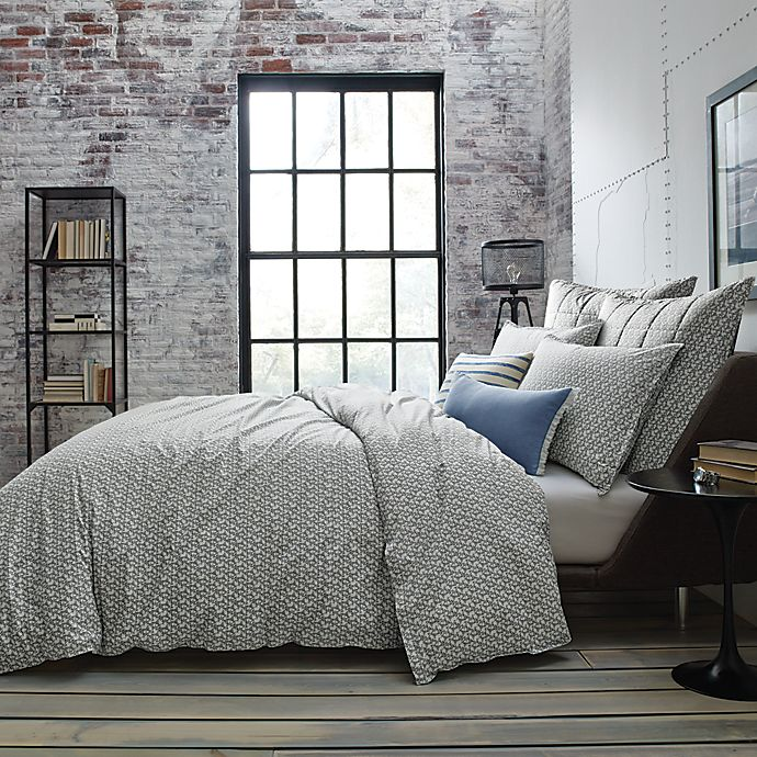 Alternate image 1 for Kenneth Cole New York Escape Reversible Duvet Cover in Blue