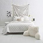 Gold Fret Full/Queen Quilt Set in White