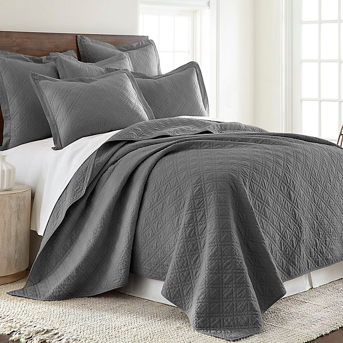 Alternate image 1 for Levtex Home Sasha Twin Quilt in Charcoal