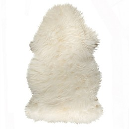 Natural 100% New Zealand Sheepskin Accent Rug