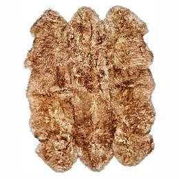 Natural 100% New Zealand Sheepskin 5-Foot 9-Inch x 6-Foot Area Rug