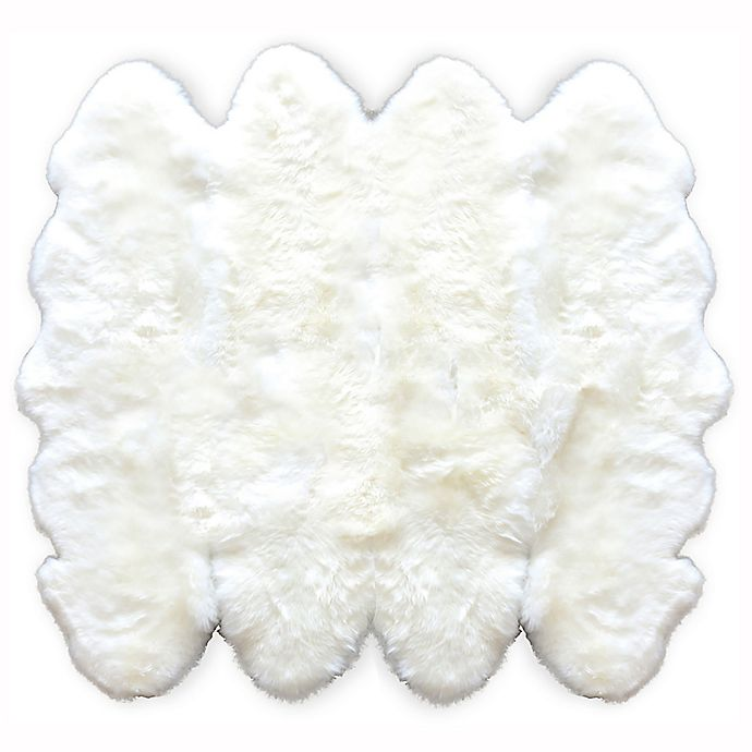 Alternate image 1 for Natural 100% New Zealand Sheepskin 6-Foot  x 6-Foot Area Rug