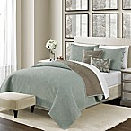 Camber Reversible King Quilt Set in Seaglass