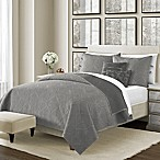 Camber 5-Piece Reversible King Quilt Set in Grey