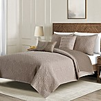 Washed Reversible Full/Queen Quilt Set in Taupe
