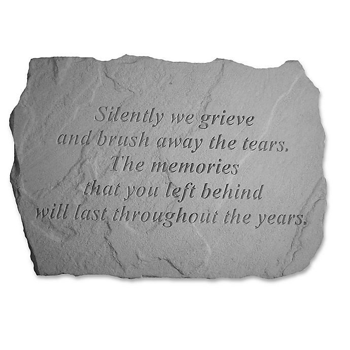 Alternate image 1 for Silently We Grieve Memorial Stone in Grey