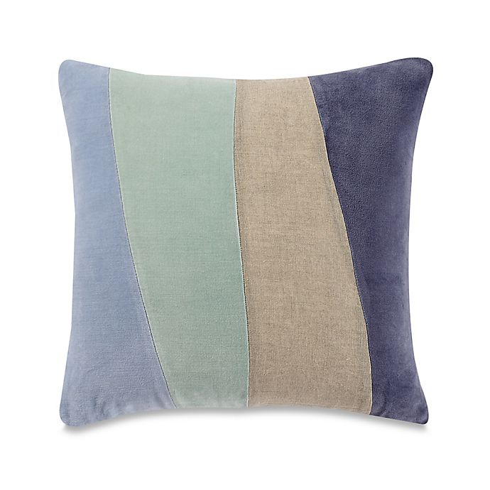 Alternate image 1 for Kenneth Cole Mineral Yarn-Dyed Geometric Square Throw Pillow in Ocean