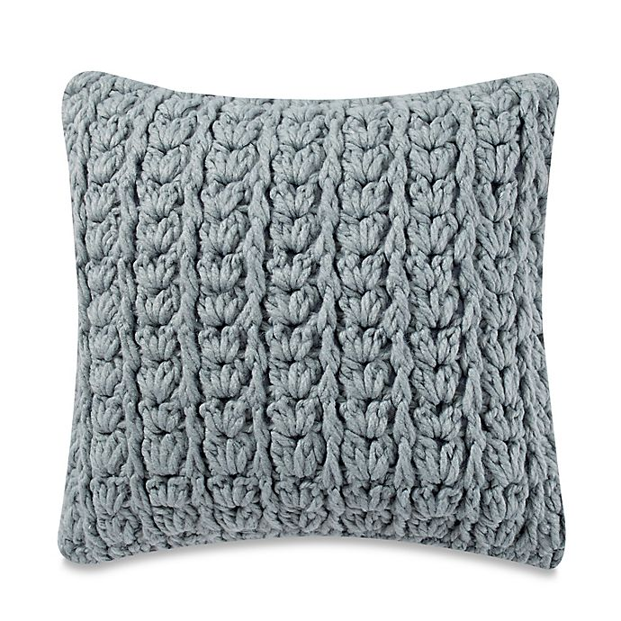 Kenneth Cole Mineral Yarn Dyed Cable Knit Square Throw