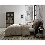 Kenneth Cole Mineral Yarn-Dyed Full/Queen Duvet Cover in Stone
