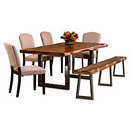 Hillsdale Emerson 6-Piece Rectangle Dining Set in Natural