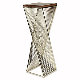 Kate And Laurel Elita End Table in Walnut