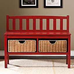 Southern Enterprises Storage Bench with Baskets