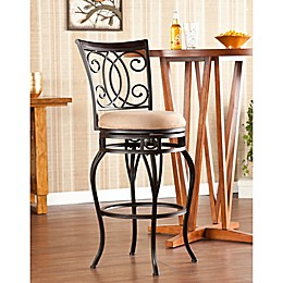 Southern Enterprises Maguire Swivel Stool in Champagne
