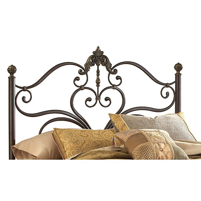 Alternate image 1 for Hillsdale Newton King Headboard with Rails in Antique Brown