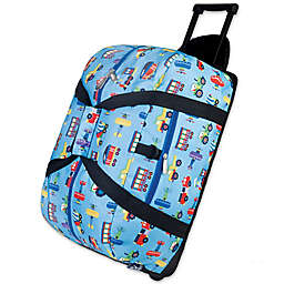 Olive Kids 22-Inch Rolling Trains and Planes  Duffel Bag in Blue