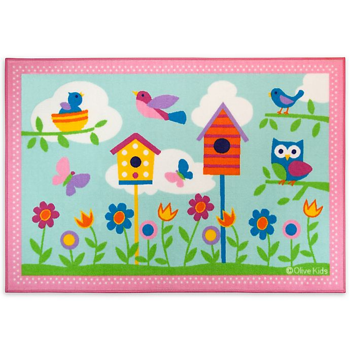 Alternate image 1 for Olive Kids™ 3-Foot x 5-Foot Birdie Accent Rug in Pink