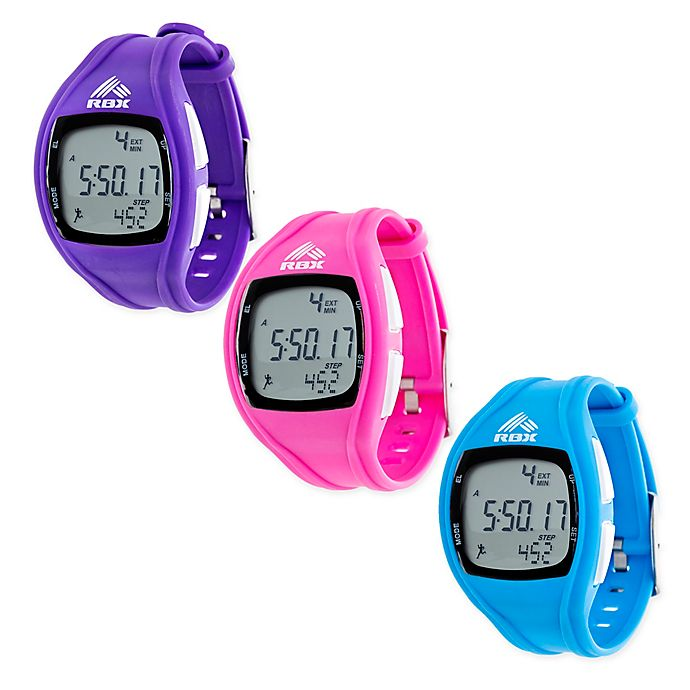 3c0ad036832d2 RBX Unisex 37mm Digital Pedometer Sport Watch with Silicone Strap ...