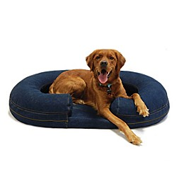 Karen Elizabeth Orthopedic Bolster Pet Bed in Denim