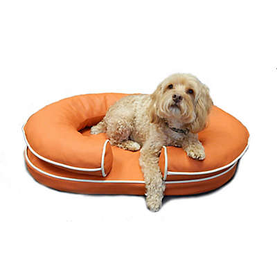 Katherine Elizabeth Orthopedic Bolster Pet Bed in Orange