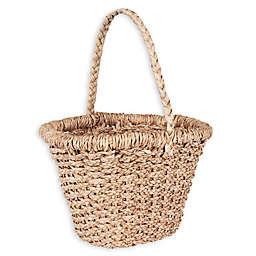 Household Essentials® Large Wicker Basket Tote with Long Handle