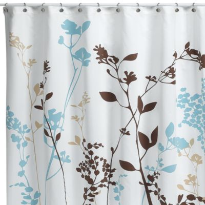 Reflections Floral Fabric Shower Curtain